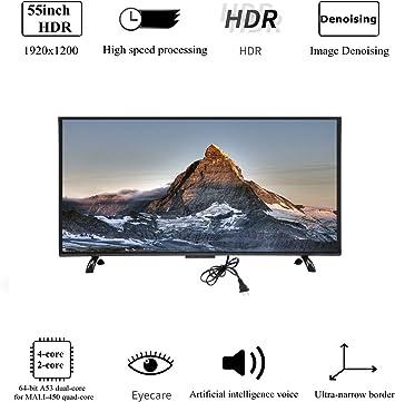 Wendry Smart TV LCD Ultra HD, televisor Curvo de Pantalla Grande de 32 Pulgadas, TV en línea Multifuncional de edición de 1920x1200 3000R Curvature(UE): Amazon.es: Electrónica
