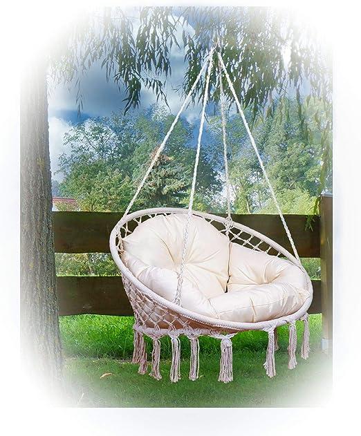 DISEÑO silla colgante CATALINA con almohadas (sin marco) de AS-S: Amazon.es: Jardín