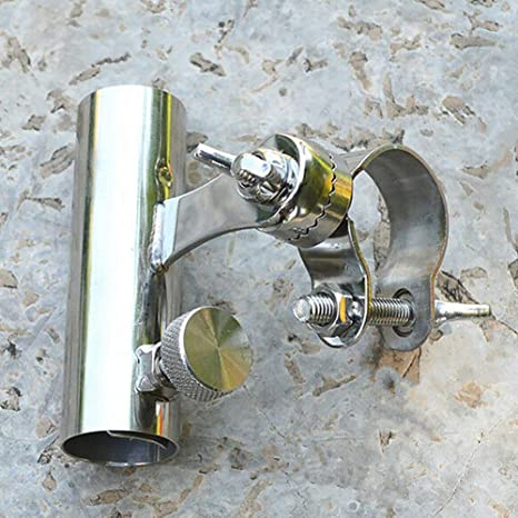 LYXMY Portacañas Pesca Soporte para Silla Marina Soporte Acero Inoxidable Barco Ferrocarril Exterior Hardware Antideslizante Práctico Resistencia a la ...