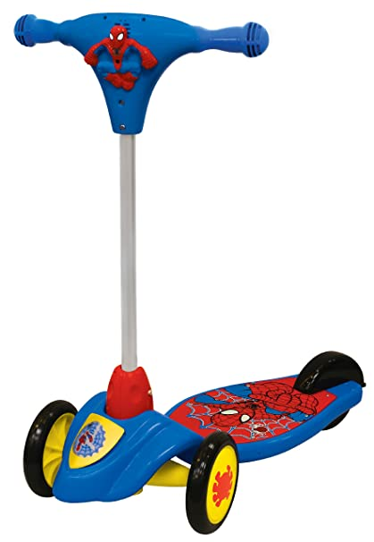 Amazon.com: Spiderman de Marvel plegable scooter Ride On by ...