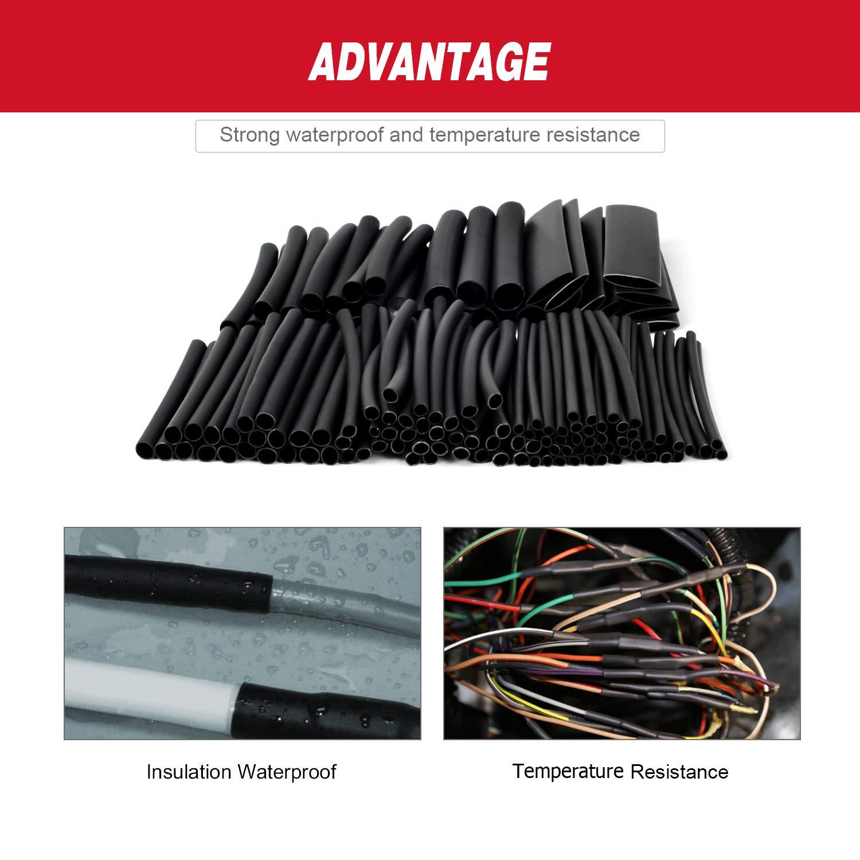 DIA 3//8, 130 pcs 3:1 Dual Wall Adhesive Heat Shrink Tubing kit : 1//2 6 Sizes