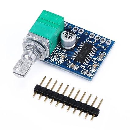 DROK® Ultra Small Amp 5V Amplificador de sonido Mini amplificadores de potencia digital Ampli Apoyo