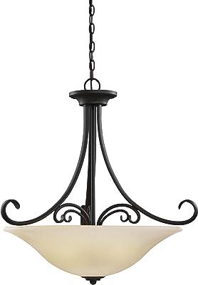 Sea Gull Lighting 65120EN3-820 Del Prato Pendant, 4-Light LED 38 Total Watts, Chestnut Bronze