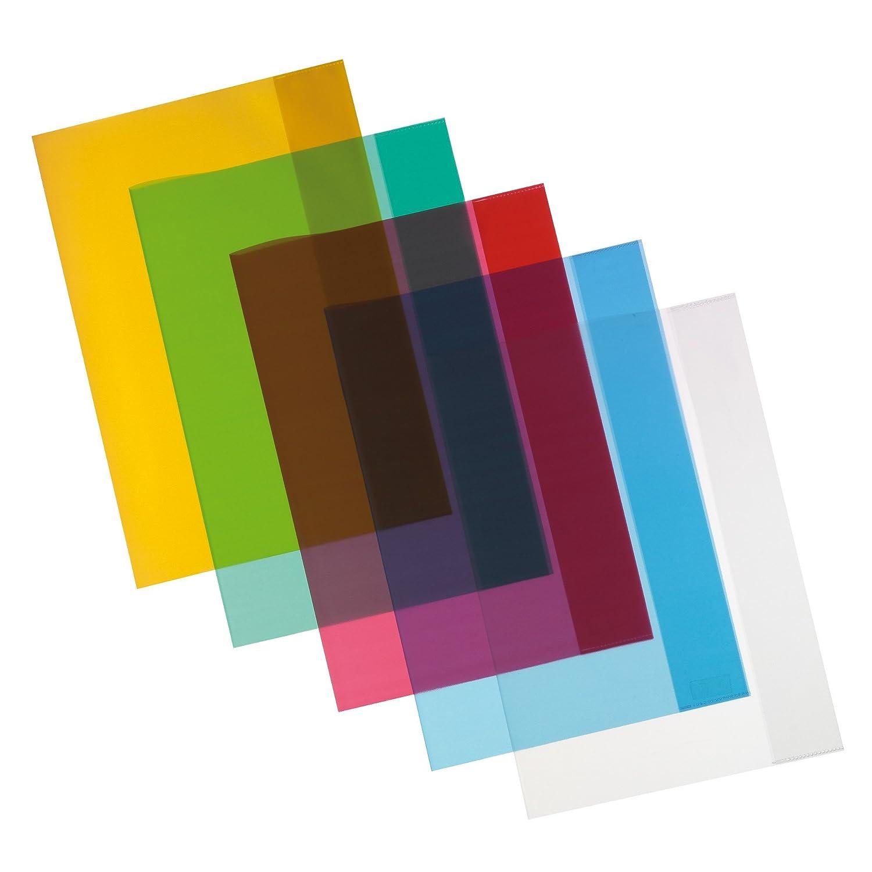 10Buste herlitz-/Quaderno guscio DIN A4/5colori assortiti