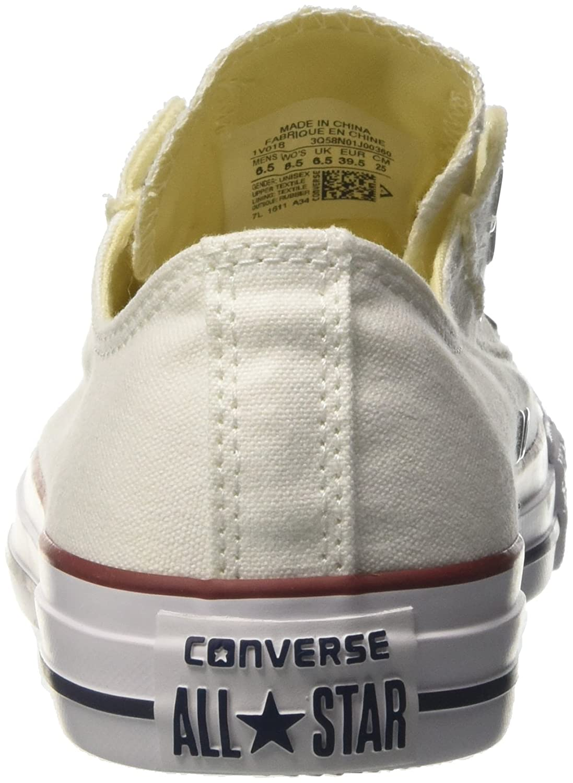 Amazon.com   Converse Optical White Canvas Size 5 US White   Fashion Sneakers