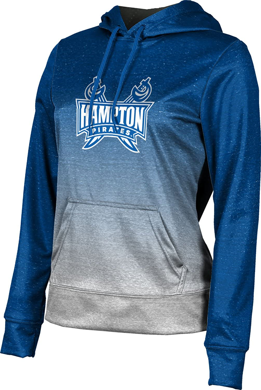 School Spirit Sweatshirt Ombre Hampton University Girls Pullover Hoodie