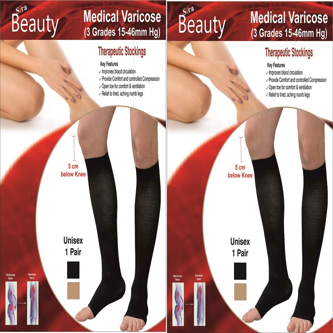 Medical Compression Tights Tired Legs Circulation Varicose Veins Relief