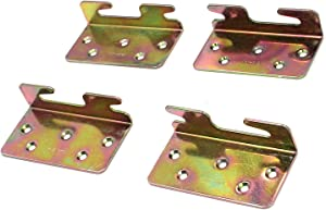 """Geesatis Bed Accessories Wood Bed Rail Bracket 4 PCS Bed Rail Hooks Plates Beds Frame Bracket, Bed Rail Fittings,Double Hook Slot Hardware, with Mounting Screws, 3.6"""" x 2"""""""