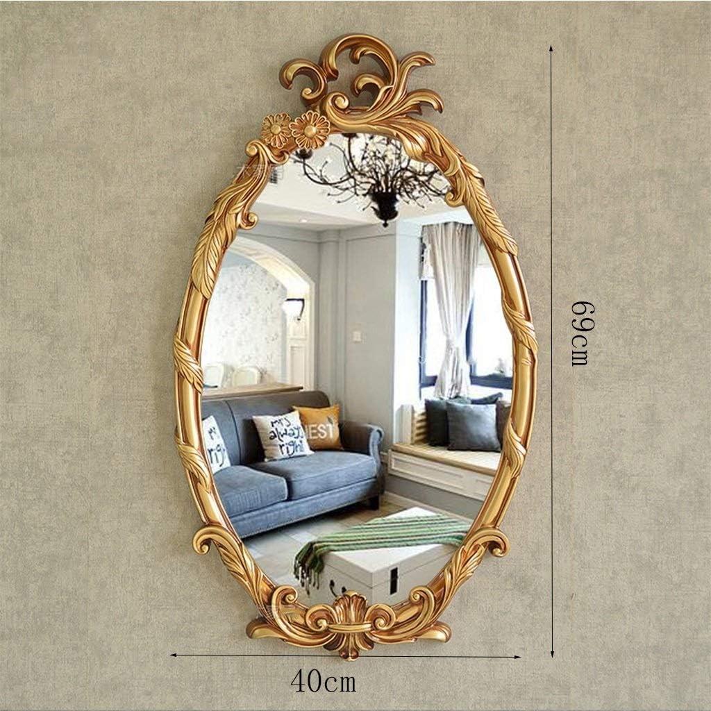 Amazon Com Smc Mirror Nordic Retro Living Room Background Decorative Mirror Bathroom Waterproof Vanity Mirror Color Antique Gold Home Kitchen