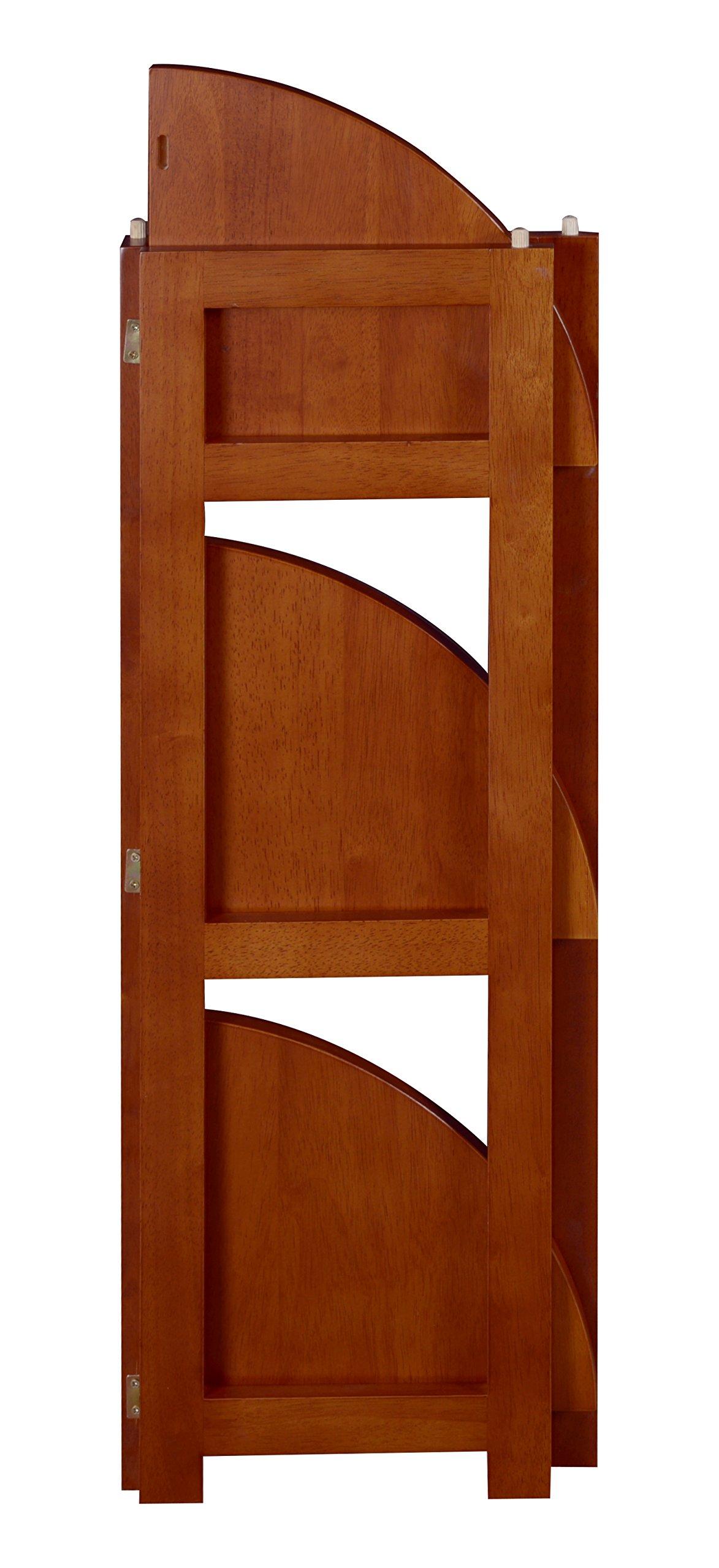 Regency Flip Flop 34-inch High Corner Folding Bookcase- Cherry by Regency (Image #5)