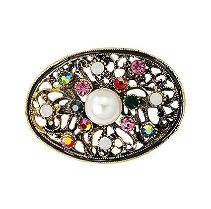 Toruiwa 1X Broches de bisuteria Broches de Ropa Broches para Vestidos Joyeria Antigua Vintage Mujer Broche