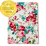 Kids N' Such Minky Baby Blanket 30  x 40  - White Floral - Soft Swaddle Blanket for Newborns and Toddlers - Best for Girl Crib Bedding, Nursery, and Security - Plush Double Layer Fleece Fabric