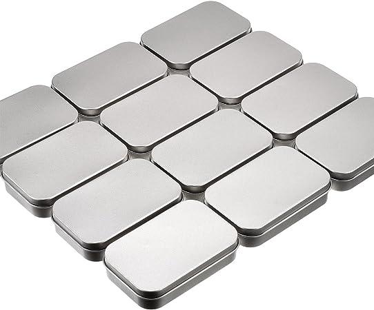 12 Pack Grundlegende Notwendigkeiten Dosen Silber Rechteckige Leere Dosen Aufbewahrungsbox Container Mini Tragbare Box Kleine Aufbewahrungskit Fur Heimwerker Haus Organizer 3 7 X 2 4 X 0 8 Zoll Amazon De Kuche Haushalt