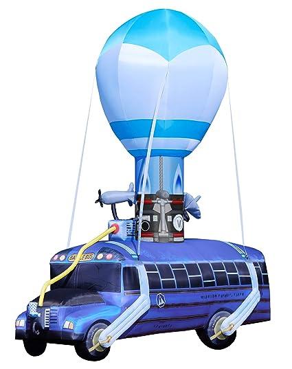 Fortnite Battle Bus Inflatable - 17 5 Ft   OFFICIALLY LICENSED