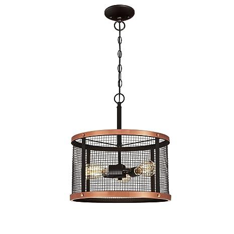 Westinghouse Three-Light Indoor Pendant Lámpara de Techo, Bronce Aceitado