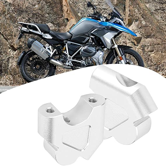 Duokon CNC ad alta densit/à in lega di alluminio Moto Manubrio Riser Manubrio Morsetto di montaggio Adattatore Misura per R1200GS R1250GS