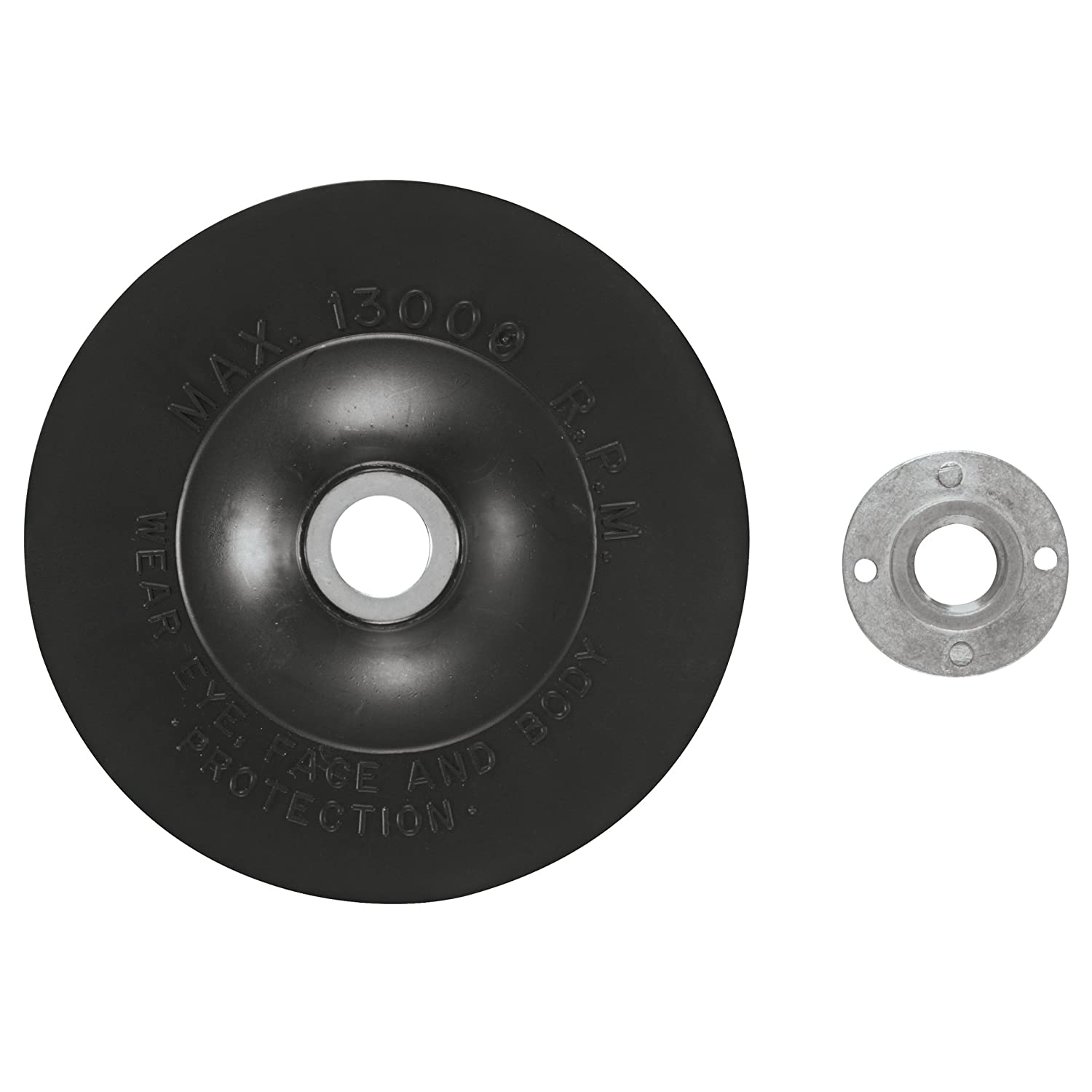 BOSCH 5' Rubber Backing Pad w/Lock Nut Part No. MG0500
