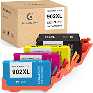 ActualColor C Remanufactured Ink Cartridge Replacement for HP 902 XL 902XL for Officejet Pro 6978 6962 6968 6958 6975 6970 6960 6954 6950 Printer (Black Cyan Magenta Yellow, 4-Pack)
