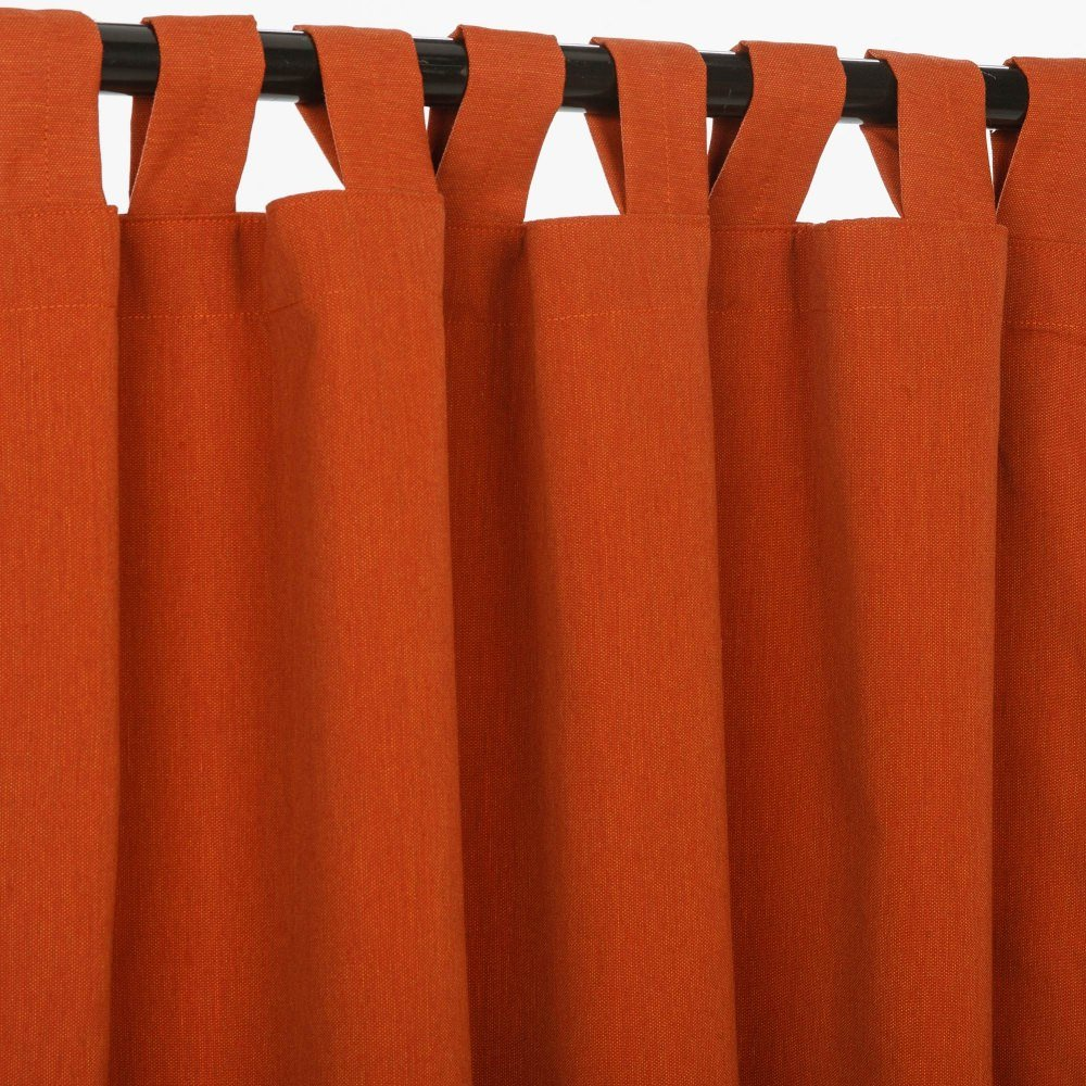 Sunbrella Outdoor Canvas Curtain with Tab Top by Sunbrella