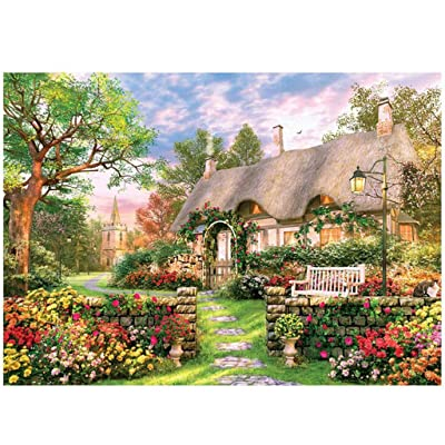 Weginte Jigsaw Puzzles for Adults 1000 Pieces Rural Life Landscape Painting Pattern Large Puzzle Children Home Game Family Puzzle Toys Gift Intellective Educational Toy Jigsaw Puzzles: Arts, Crafts & Sewing