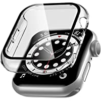 Tycom Case Compatible with Apple Watch Series 6/SE/Series 5/Series 4 with Built in Tempered Glass Screen Protector- All…