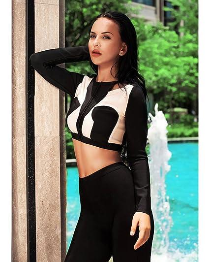 a51e2d4c4c61 Amazon.com  Whoinshop Women s Long Sleeve Two Piece Sets Jacket and Legging  Jumpsuit Romper Pants  Clothing
