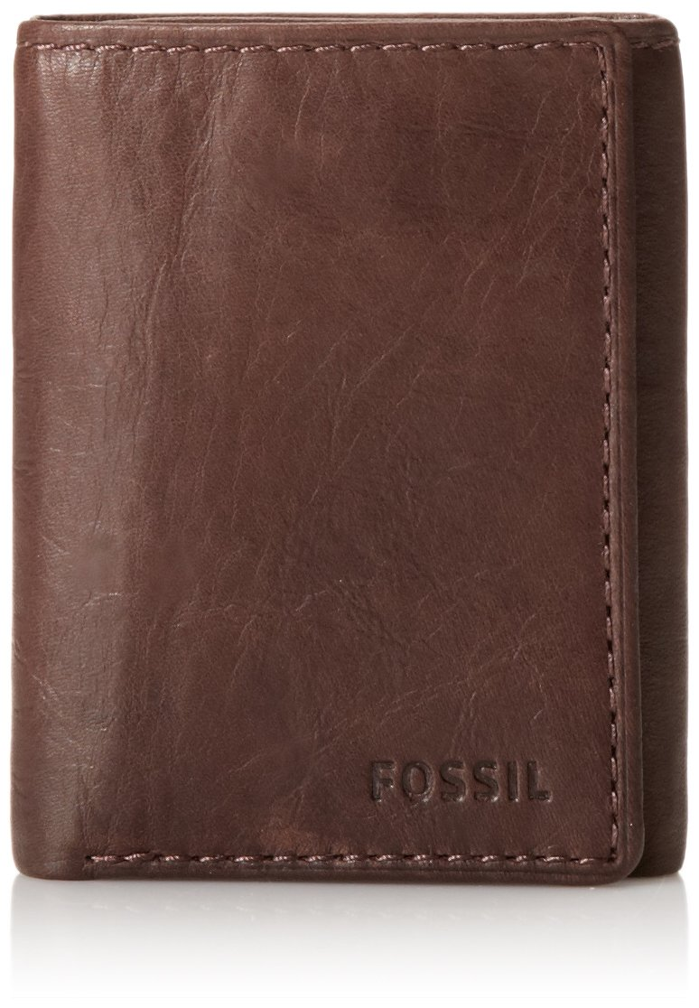 Fossil Ingram Extra Capacity Trifold Men's Wallet Brown by Fossil