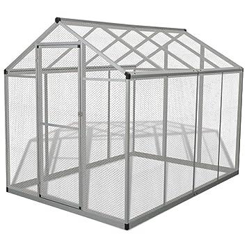 mewmewcat Pajarera Grande para Exterior Estructura de Aluminio ...