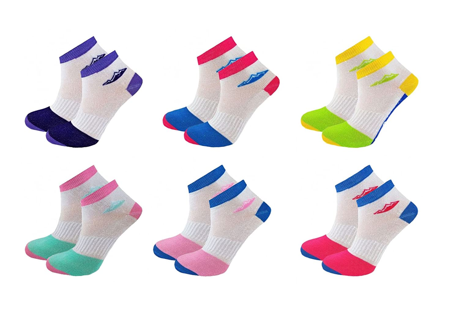 12 Pairs Ladies Sport Performance Trainer Low cut Socks - Size 4-8