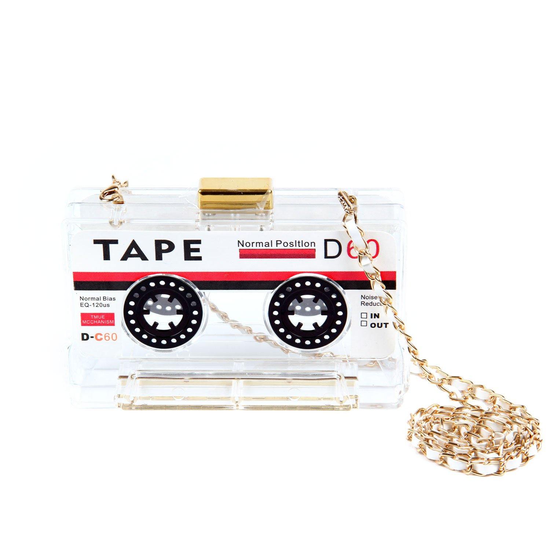 Kuang Women's Novelty Tape Shaped Shoulder Bag Vintage Clutch Evening Bag