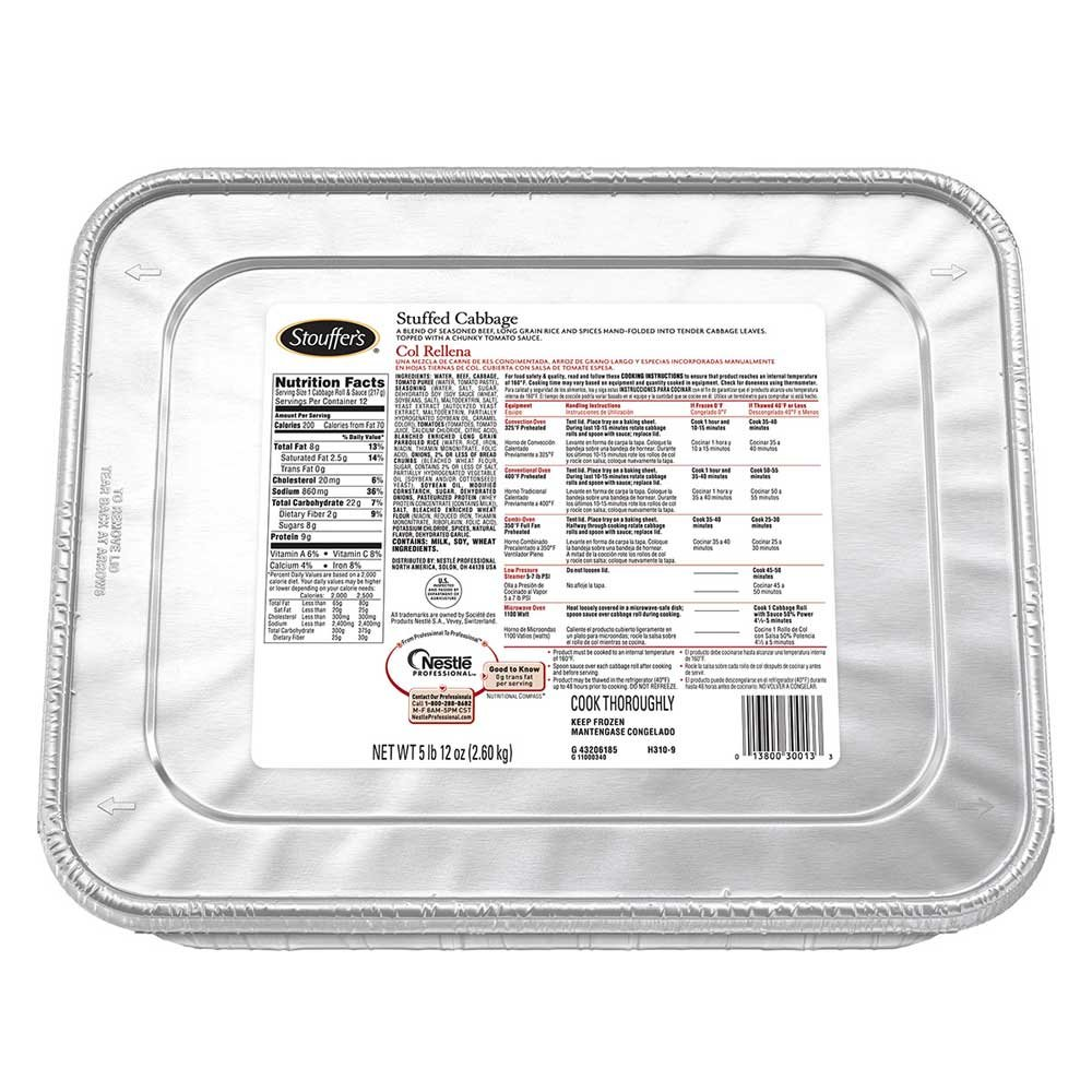 Nestle Stouffers Stuffed Cabbage, 92 Ounce -- 4 per case. by Stouffer's (Image #1)
