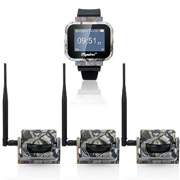 Olymbros Detector de Movimiento 360°65ft Inalámbrico Caza Trail Sistema de Alarma de Seguridad 1