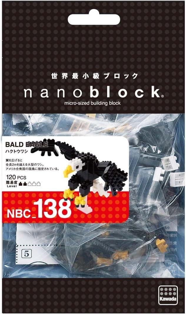 Nanoblock Bald Eagle Kawada NBC-138 nano blocks 120 pieces pcs