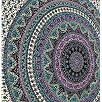 Gran India Mandala Tapiz Hippie Hippy Colgar en la pared Colcha Dormitorio Tapicería Colgante de pared decorativo, Picnic Playa hoja Coverlet