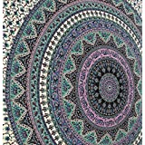 Large Indian Mandala Tapestry Hippie Hippy Wall Hanging Throw Bedspread Dorm Tapestry Decorative ...