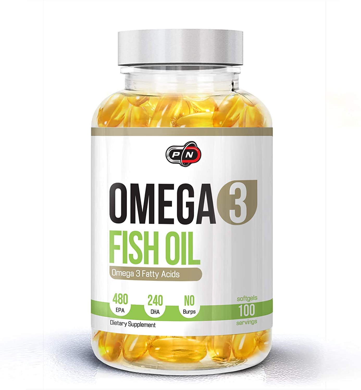 Omega 3 Fish Oil 1200mg Capsules 480 EPA 240 DHA High Strength Concentration Premium Quality Essential Fatty Acids Supplement Softgels Burpless 50 100 200 300 Servings