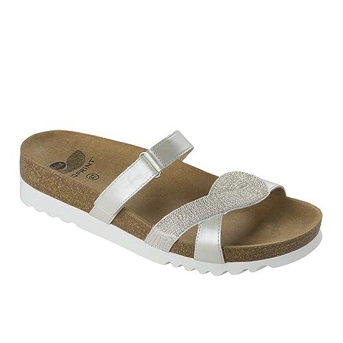 53b2d370682 DR.Scholl - Sandalias de Vestir de Material Sintético para Mujer Blanco  Size  35  Amazon.es  Zapatos y complementos