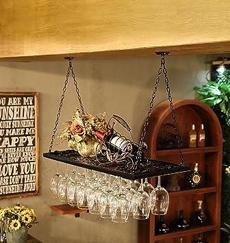 Amazon Com Stemware Racks Creative Home Bar Wine Rack Hanging