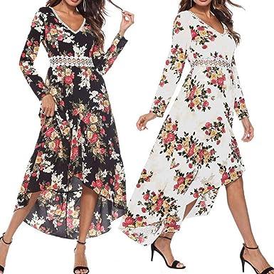 Polp Vestidos Manga Larga Mujer Vestidos Otono Invierno 2018 Tallas Grandes Vestidos De Fiesta Vestido Fiesta Mujer Vestido Fiesta Mujer Mujer Vestido Estampado Vestido Estampado Mujer Amazon Es Ropa Y Accesorios