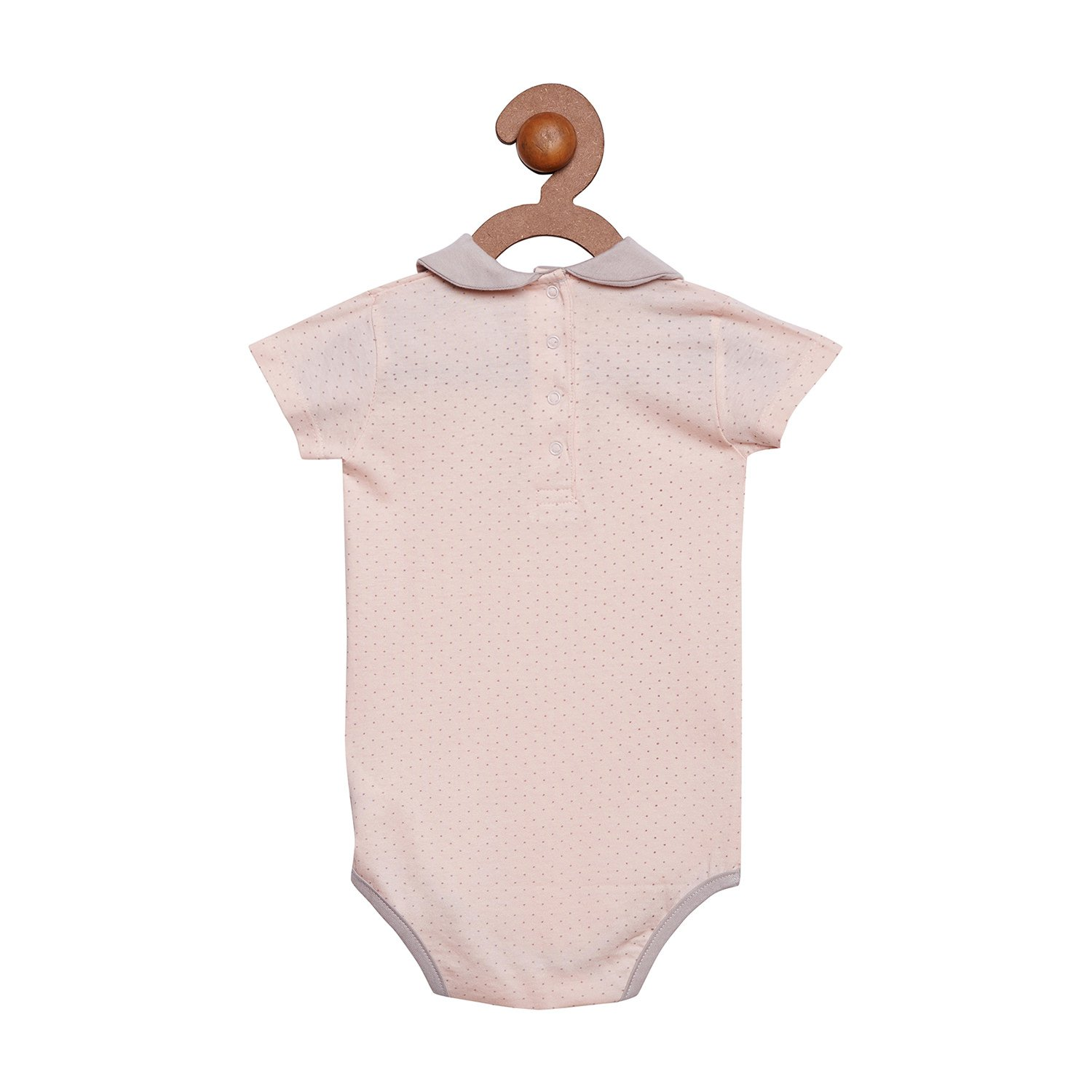 9f8a71600 Berrytree Premium Quality Organic Cotton Peter Pan Collar & Short Sleeves  Printed Pattern Onesie: Amazon.in: Clothing & Accessories