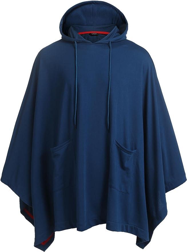 JINIDU - Poncho con capucha unisex con bolsillo