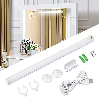 Dimmable Salle Pour Placard Kohree Armoire Led Blanc Lampe Maquillage 6w Étagère De Camping Miroir Tactile 6500k Usb Lumière Cuisine Bain N80OPZnwXk
