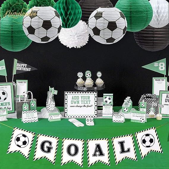 NICROLANDEE decoración fiesta de fútbol, pancarta de papel ...