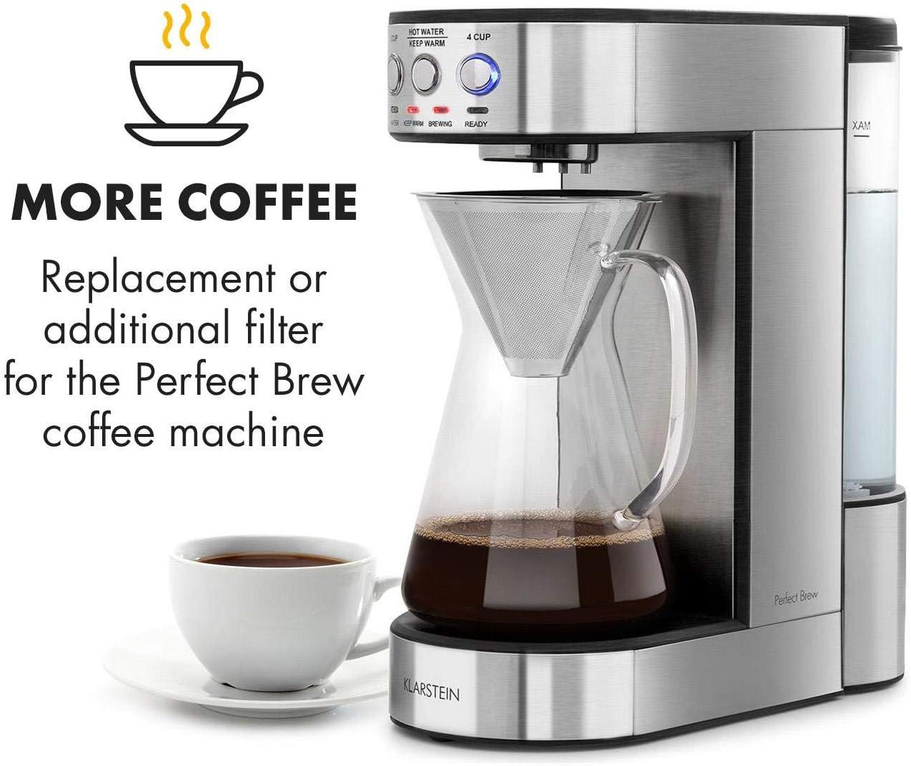 inox Klarstein Perfect Brew Filtre /à caf/é Accessoire de rechange cafeti/ère