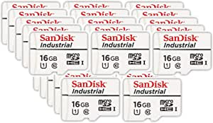 SanDisk Industrial 16GB Micro SD Memory Card Class 10 UHS-I MicroSDHC in Cases 1 Bundle with Bulk 25 Pack SDSDQAF3-016G-I Everything But Stromboli Card Reader