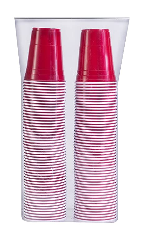 SOLO Cup Company P16R-100 Red Solo Cold Plastic Party Cups 16 Ounce 100 Pack