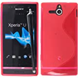 For Sony Xperia U ST25i Various New Designs Printed TPU Gel Rubber Silicone Back Protection Case Cover + Stylus