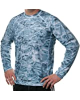 Aqua Design Men Loose Fit Long Sleeve Surf Swim Sun Protection Rash Guard Shirt
