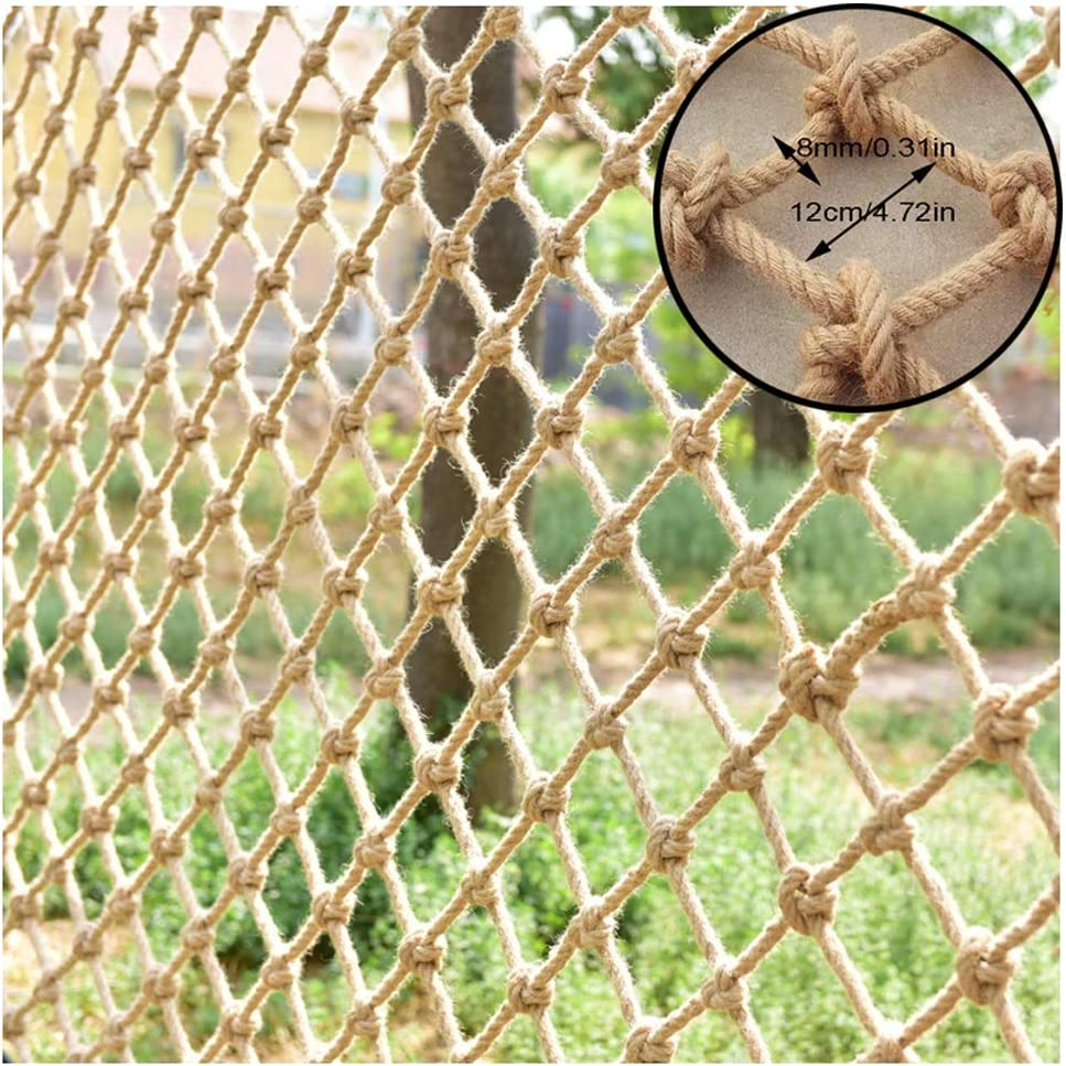 Baby Safety Outdoor Railing Net Protective Mesh Camo Netting Hemp Rope Safety Net Safe Stair Net for Kids Wall Partition Tarpaulin Outdoor Climbing Hammock Swing Indoor Fence Balcony Roof Photography