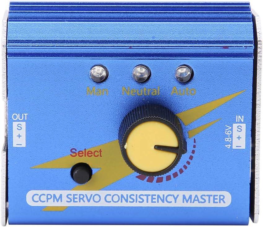 Power Servo Tester 3CH ESC CCPM Servo Konsistenz Master Checker per aeromobili RC elicotteri auto Servo//ESC tester